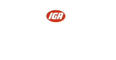 A theme footer logo of Phillips IGA